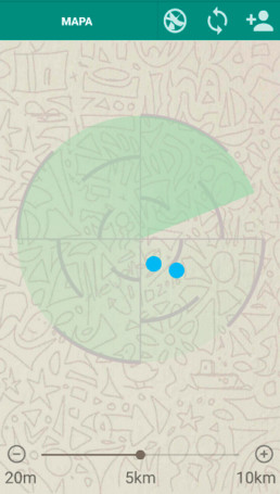 App Radar geolocalització
